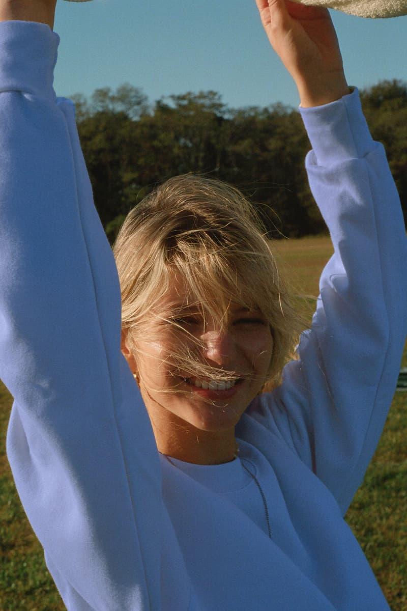 Tea You Montreal Après Sport Fleece Suit Sweater Crewneck Sweatshirt Sweats Women Pastel Blue Serenity