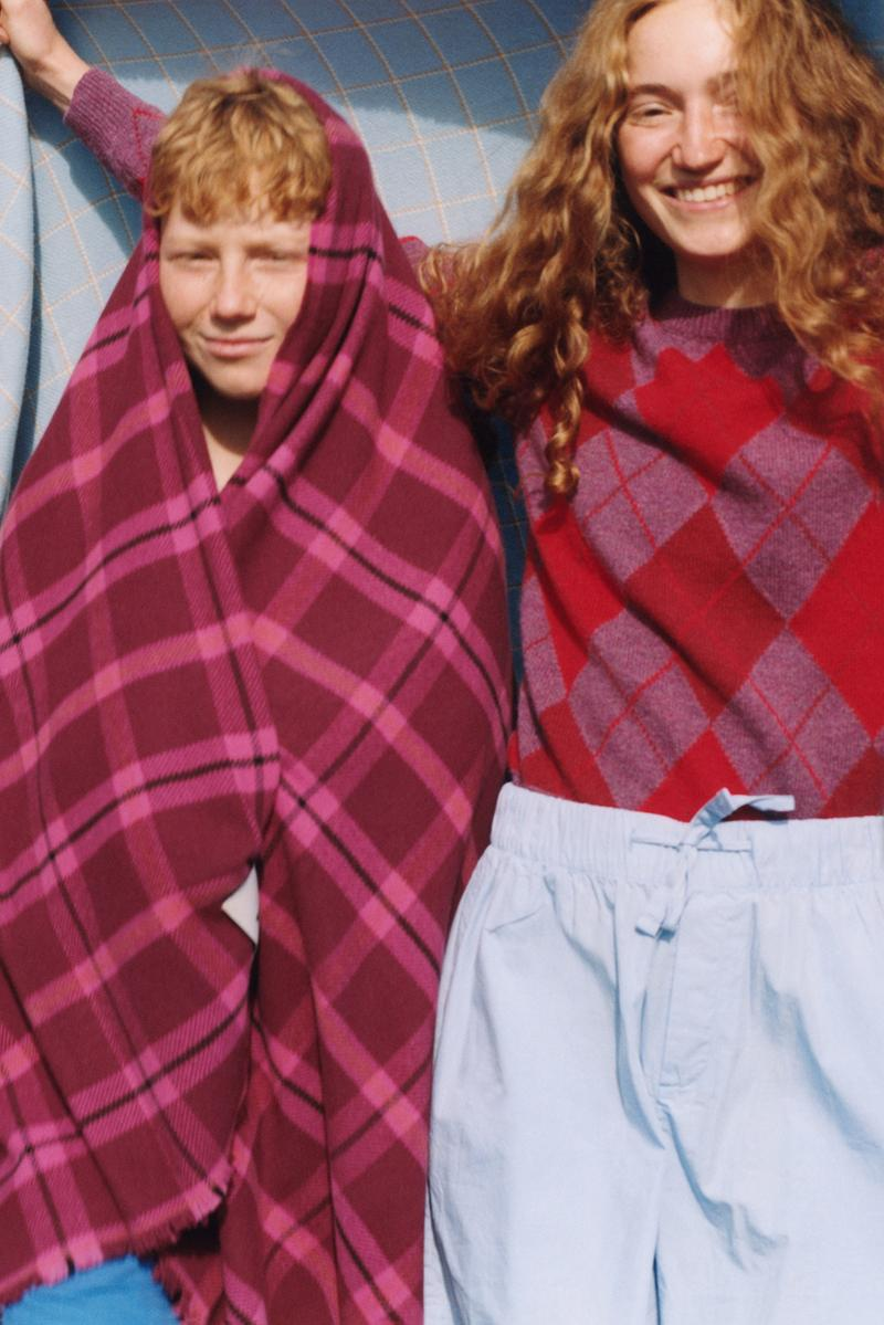 tekla fabrics blankets collection pure new wool fine merino sustainable campaign