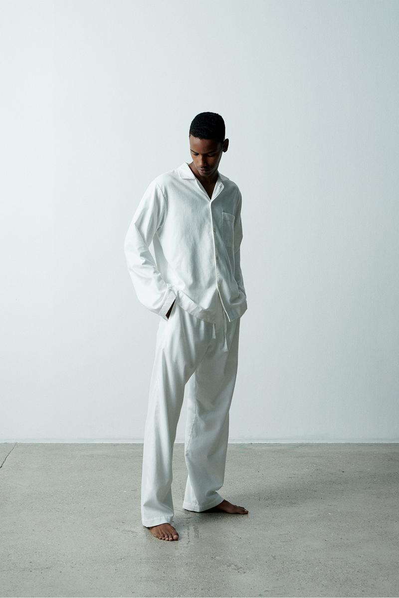tekla flannel pajamas sleepwear loungewear unisex fall winter grape lucid black gentle yellow cream white release info