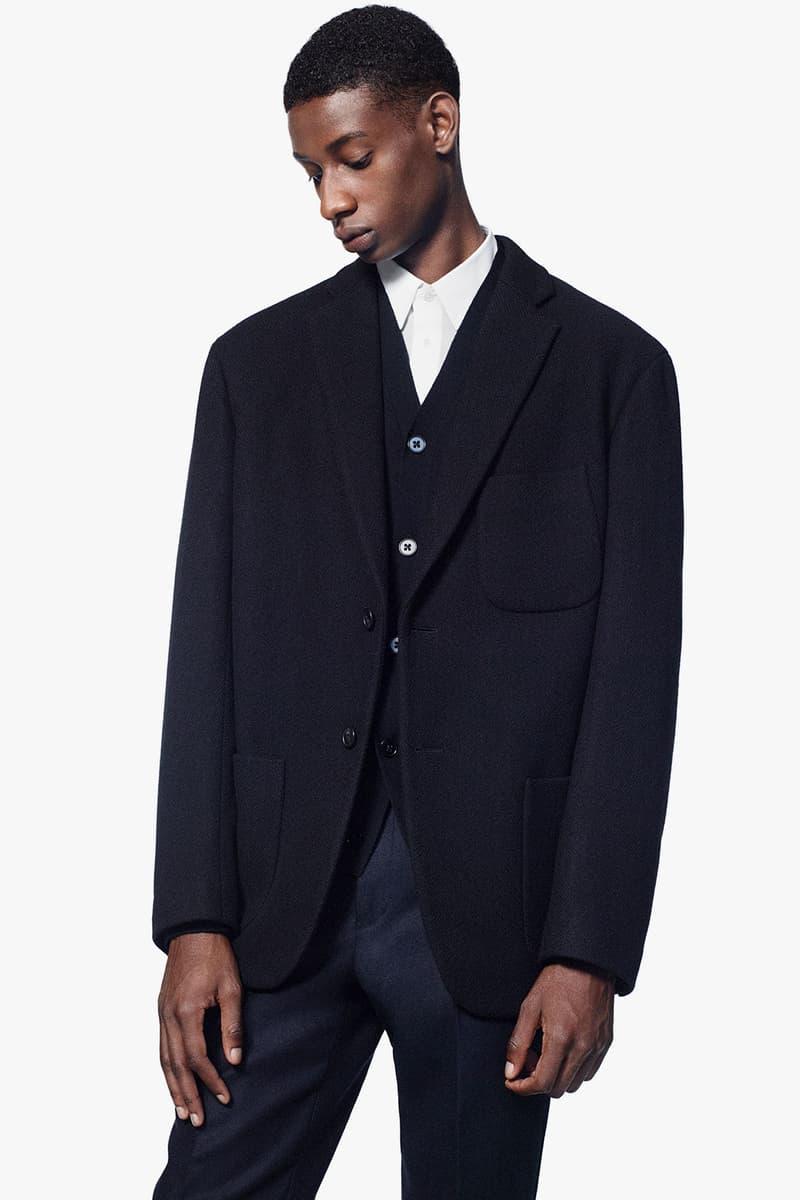 uniqlo jil sander plus j fall winter collection lookbook suits jackets coats release date