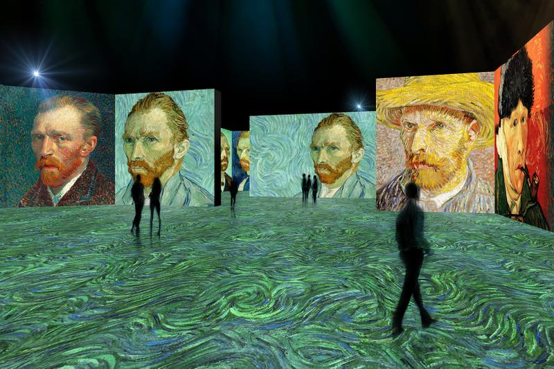 vincent van gogh the lume exhibition opening 2021 indianapolis museum of art newfields starry night sunflowers location date