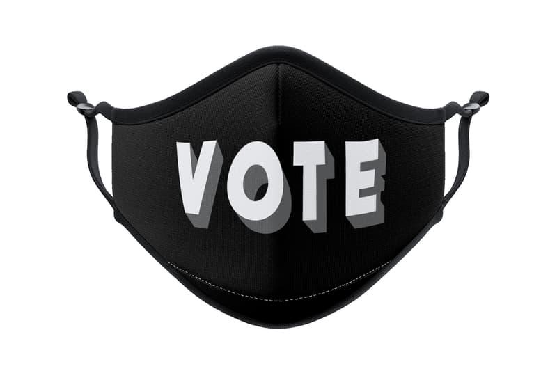 vistaprint artist face mask collaboration collection awake ny vote orange black
