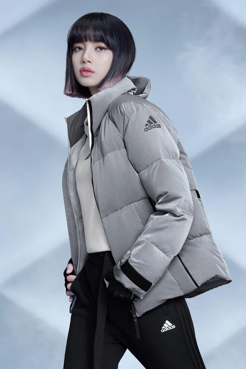 adidas blackpink lisa winter puffer down jackets outdoor wear price release