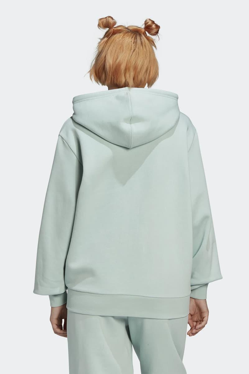 adidas originals womens hoodie sweatpants pastel green colorway
