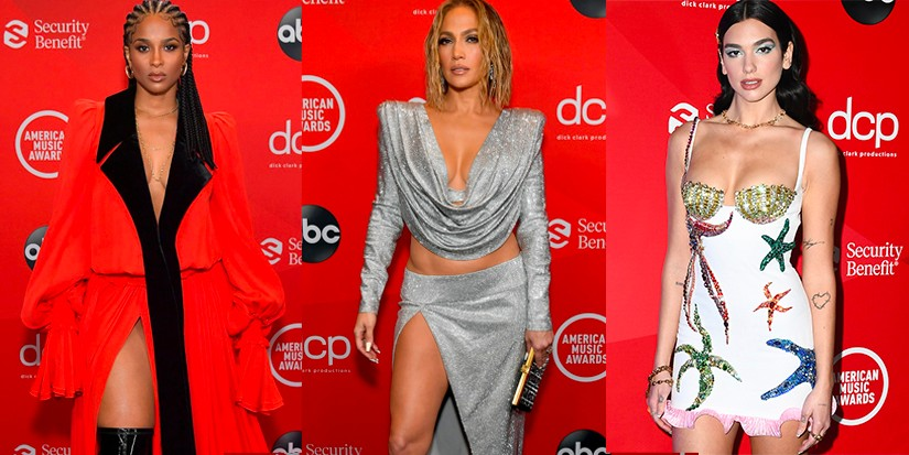 Dua Lipa, Jennifer Lopez, Ciara and More Slay the 2020 AMAs Red Carpet