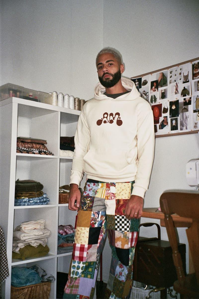 Asata Maisé Sustainable designer fall winter 2020 collection lookbook logo hoodie pants