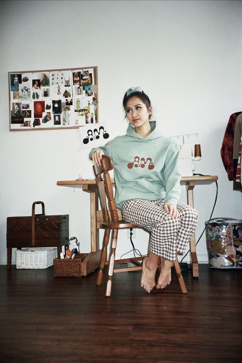 Asata Maisé Sustainable designer fall winter 2020 collection lookbook logo hoodie