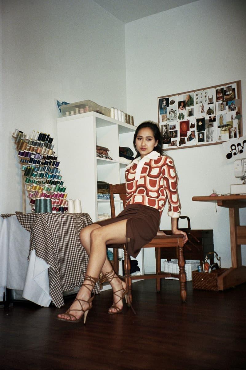 Asata Maisé Sustainable designer fall winter 2020 collection lookbook sweater skirt