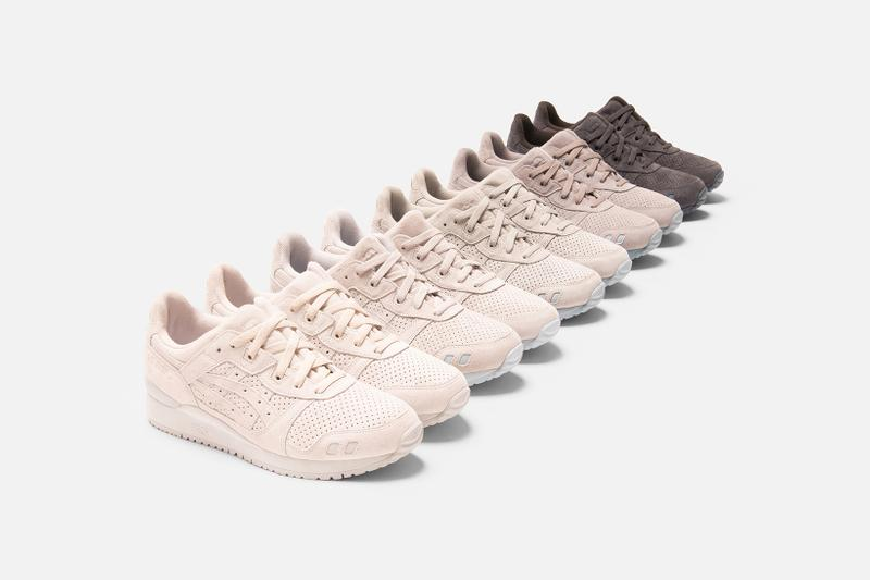 asics kith ronnie fieg collaboration gel lyte iii the palette colorways footwear shoes