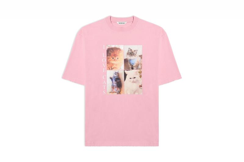 Balenciaga I Love Pets Capsule Collection Cats Dogs Accessories T-Shirts Print