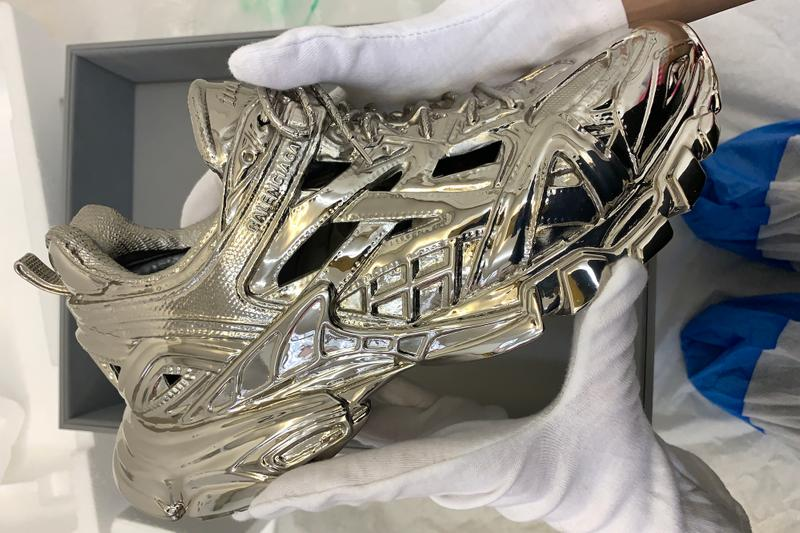 Balenciaga Launches Objects Line With Sneaker Sculpture Track.2 Shoe Brass Metal Limited-Edition Release