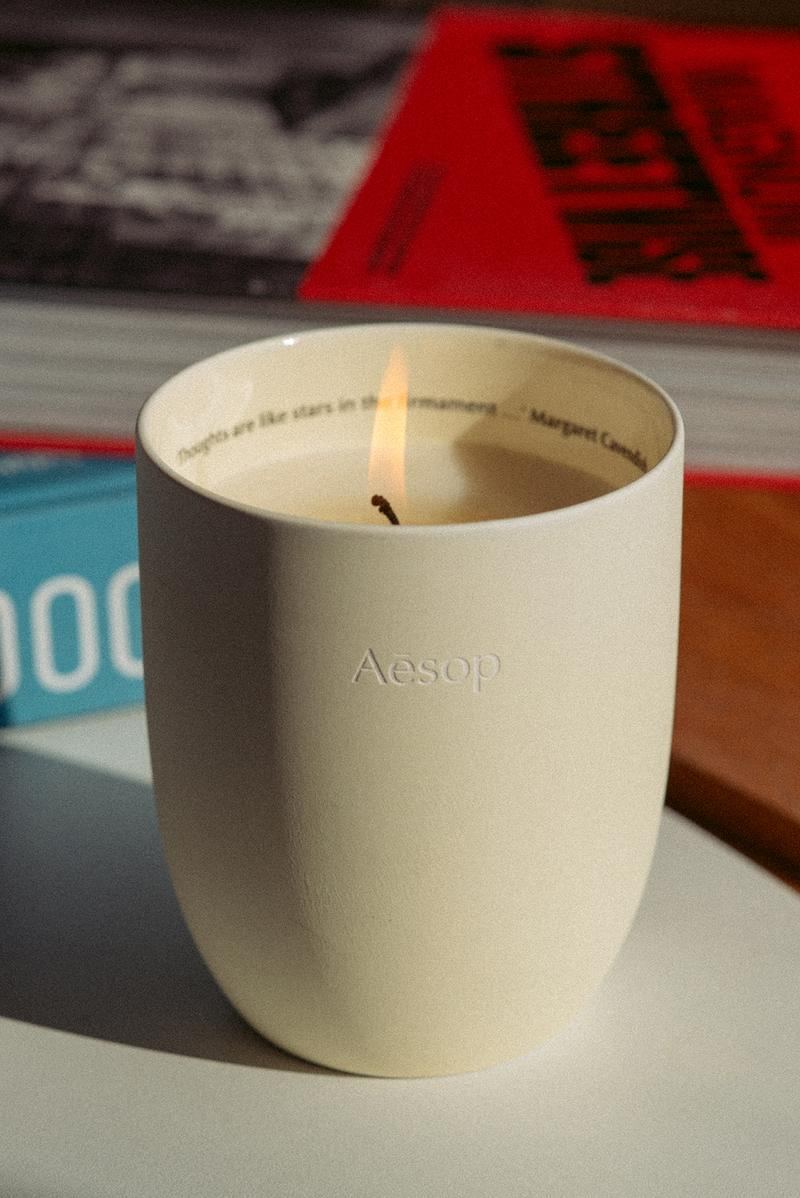 Aesop Aganice Aromatique Candle Quote Thoughts Are Like Stars in the Firmament