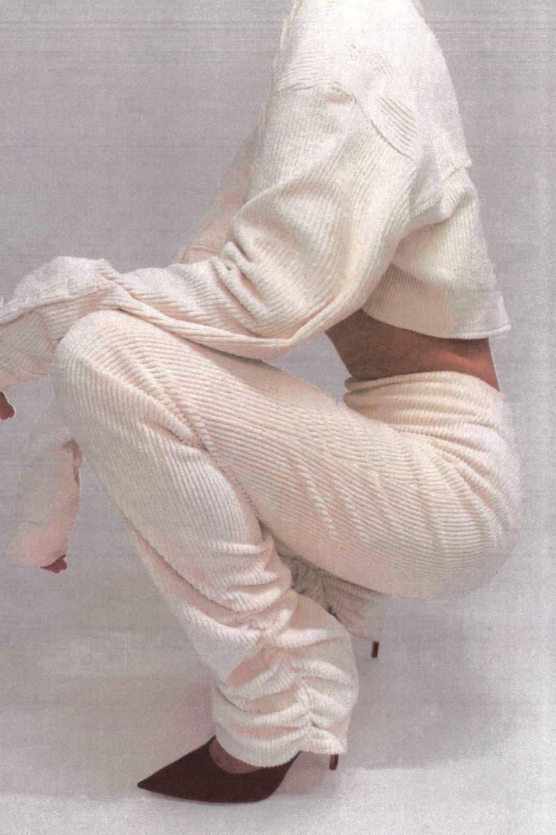 Danielle Guizio Velvet Ruched Leggings White Loungewear
