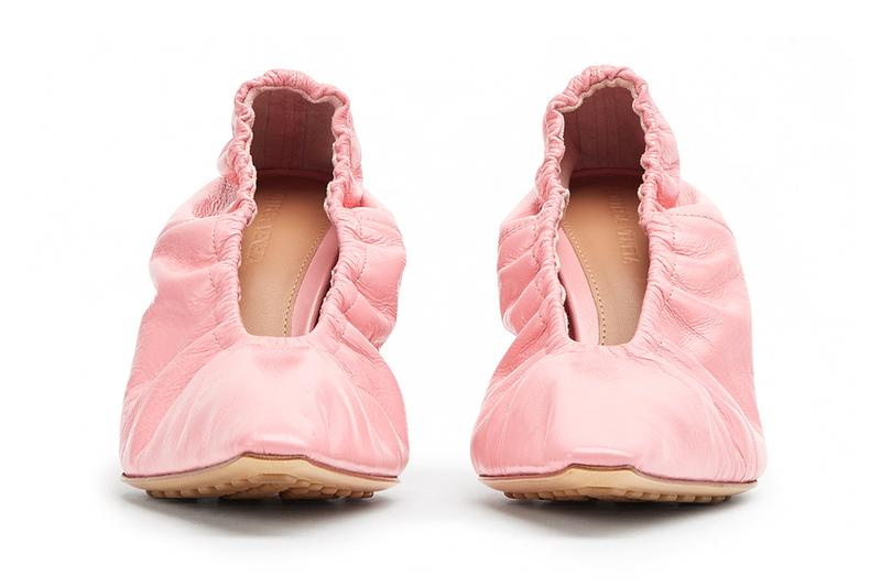 Bottega Veneta Almond Pumps Glitter Heel Purple Pink