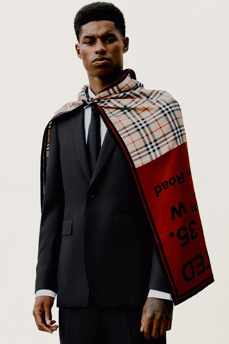 Burberry Marcus Rashford Food Poverty Campaign Donations Charity Project UK School Meals