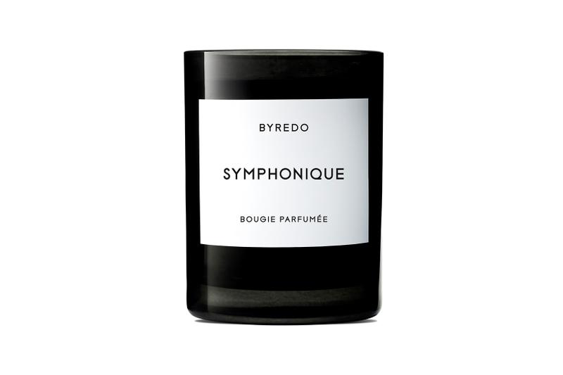 byredo symphonique scented candle limited edition black glass homeware