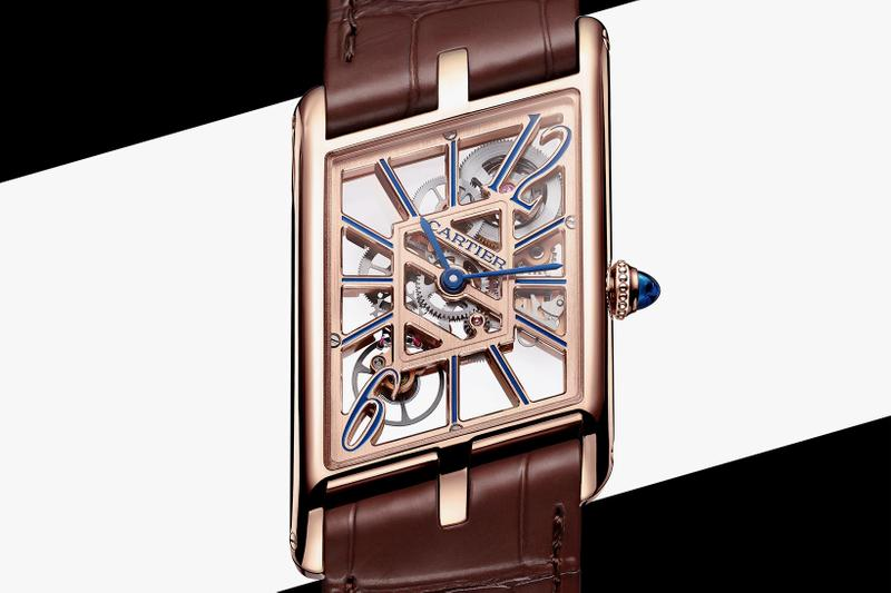 cartier tank asymetrique watches luxury prive collection rectangular skeleton limited edition