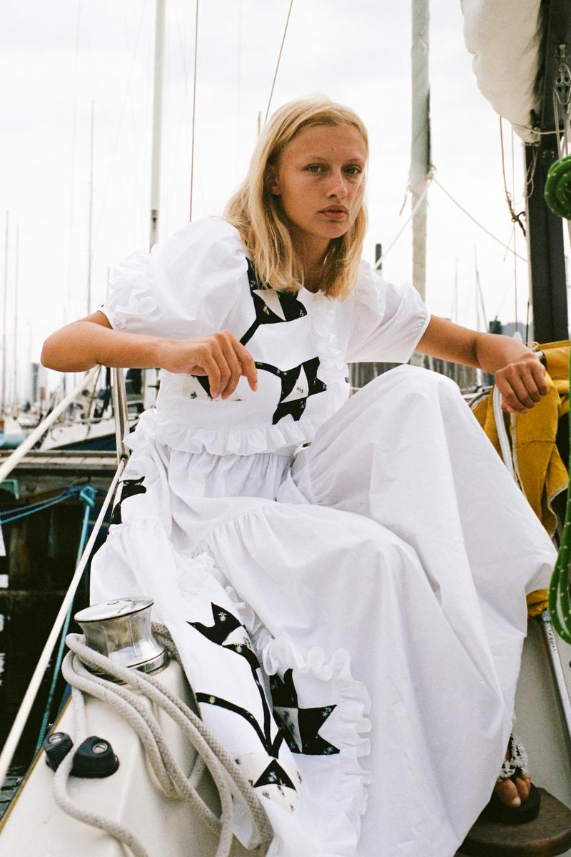 Cecilie Bahnsen Encore 3 Upcycled Collection Danish Designer Lookbook Sustainable Scandinavian Feminine Dresses Gowns Prints