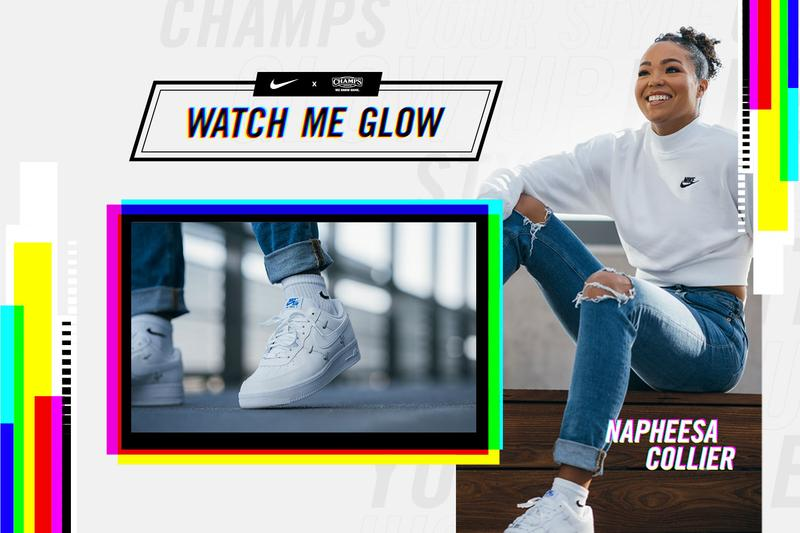 champs sports nike watch me glow female basketball players campaign