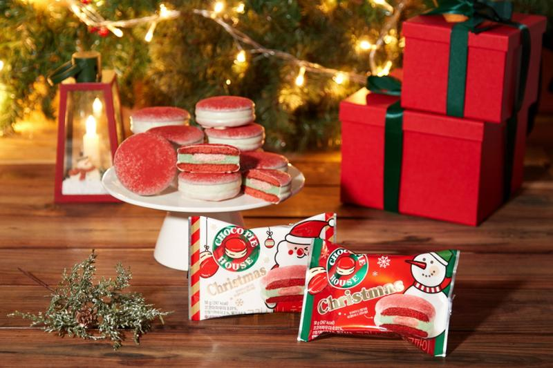 choco pie christmas limited edition flavor south korean snacks desserts orion release