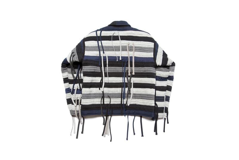 clothsurgeon nike waist band jacket vest reconstructed project sustainable navy blue white black
