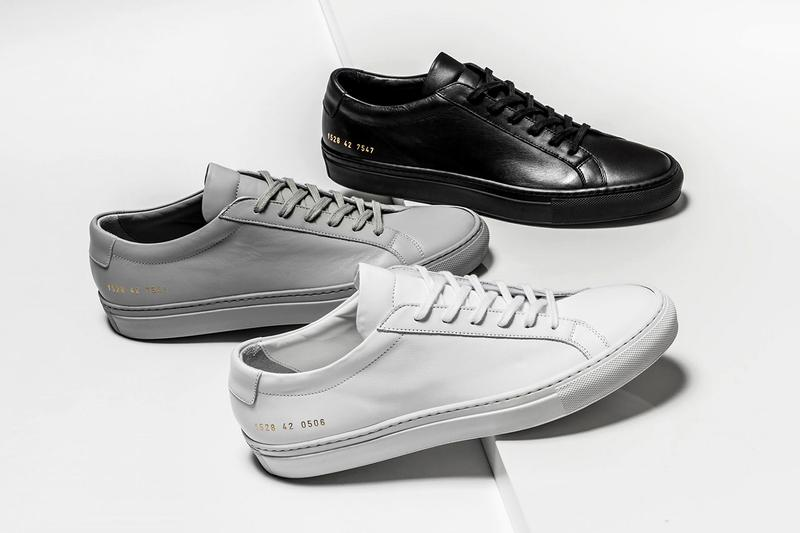 Common Projects Sneaker Achilles Low White Black Gray