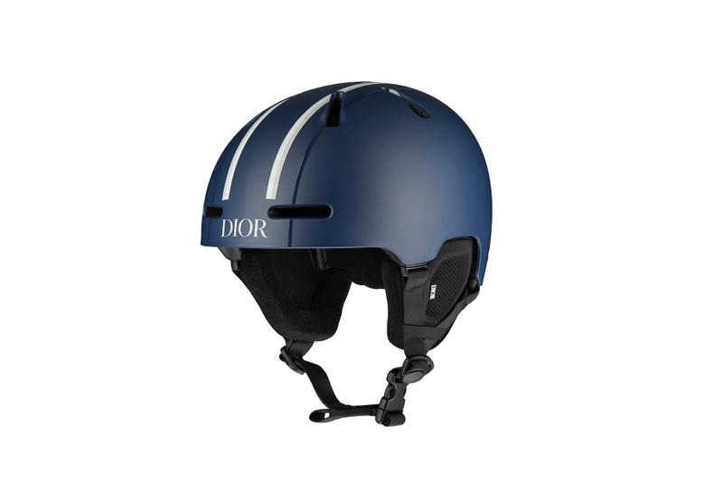 Dior Monogram Ski Capsule Collection Snowboard Helmet Logo Oblique Print Navy Blue Sport