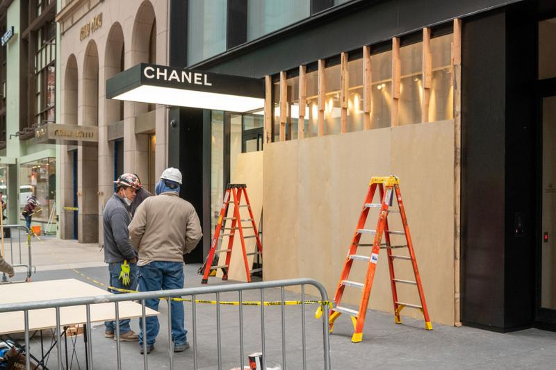 Chanel Store New York City Election Day Boarded Up