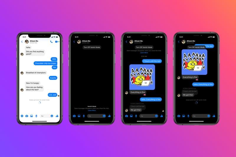 Facebook Messenger Instagram Vanish Mode DM Messages Feature