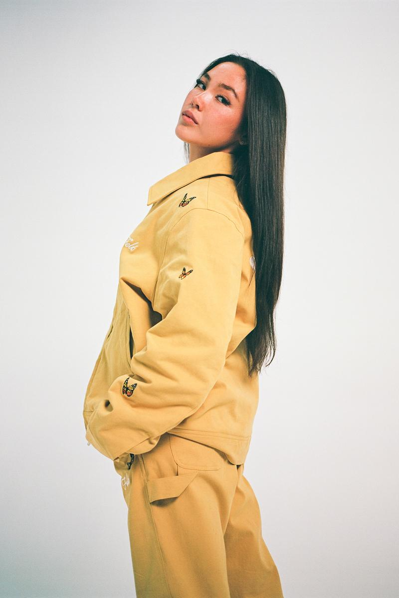 Felt Fall/Winter 2020 Collection Butterfly Jacket Pants Yellow
