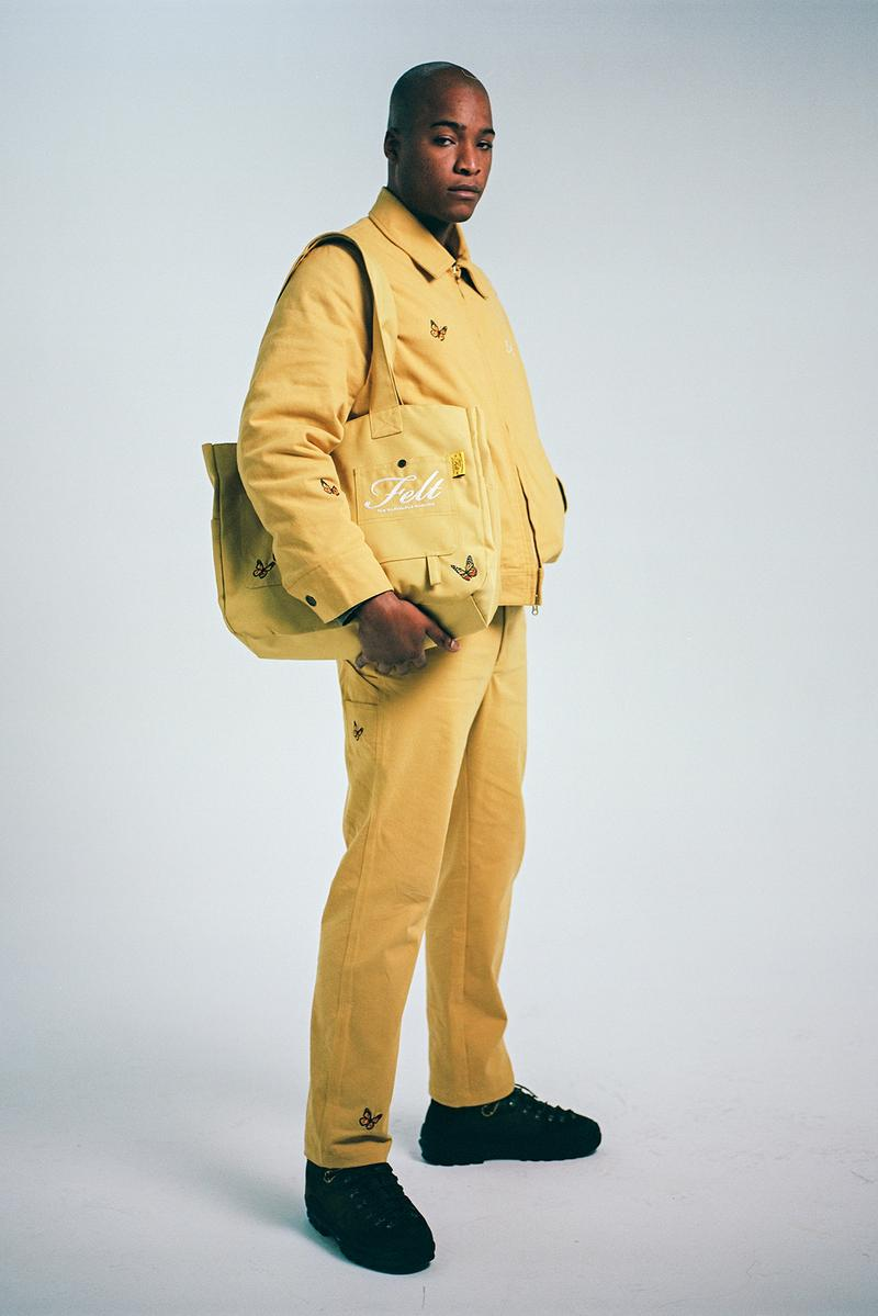 Felt Fall/Winter 2020 Collection Butterfly Jacket Pants Bag Yellow
