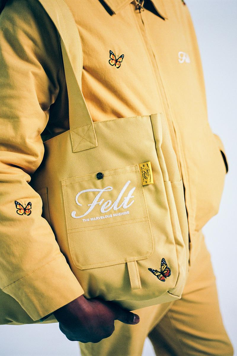 Felt Fall/Winter 2020 Collection Butterfly Jacket Bag Yellow