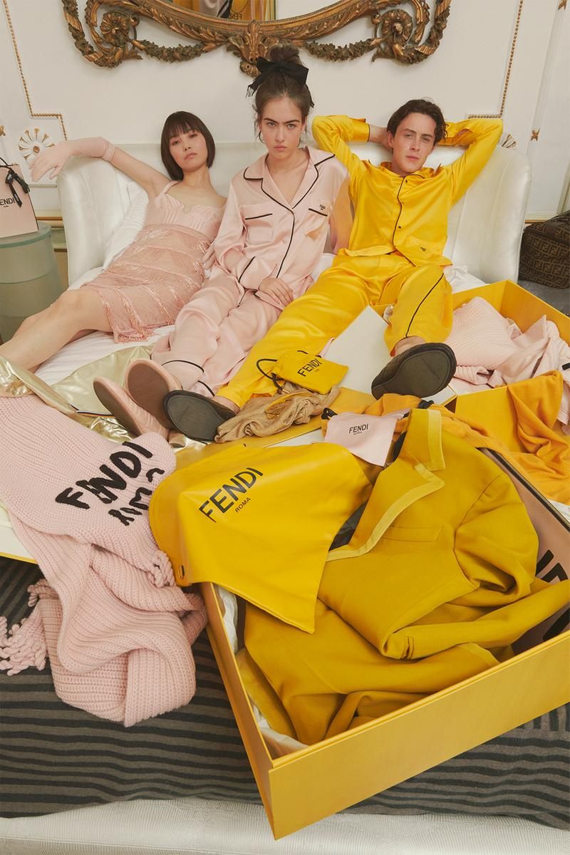 fendi roma holiday mens womens collection outerwear jackets dresses jewelry accessories campaign