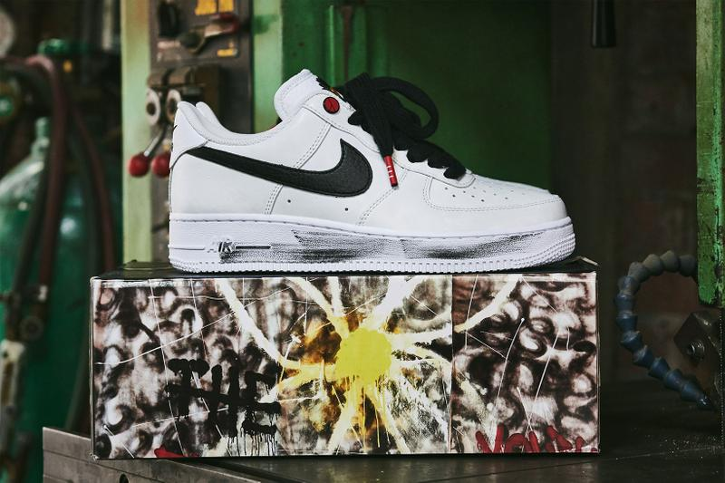 g-dragon peaceminusone pmo nike air force 1 af1 para noise sneakers closer detailed look release