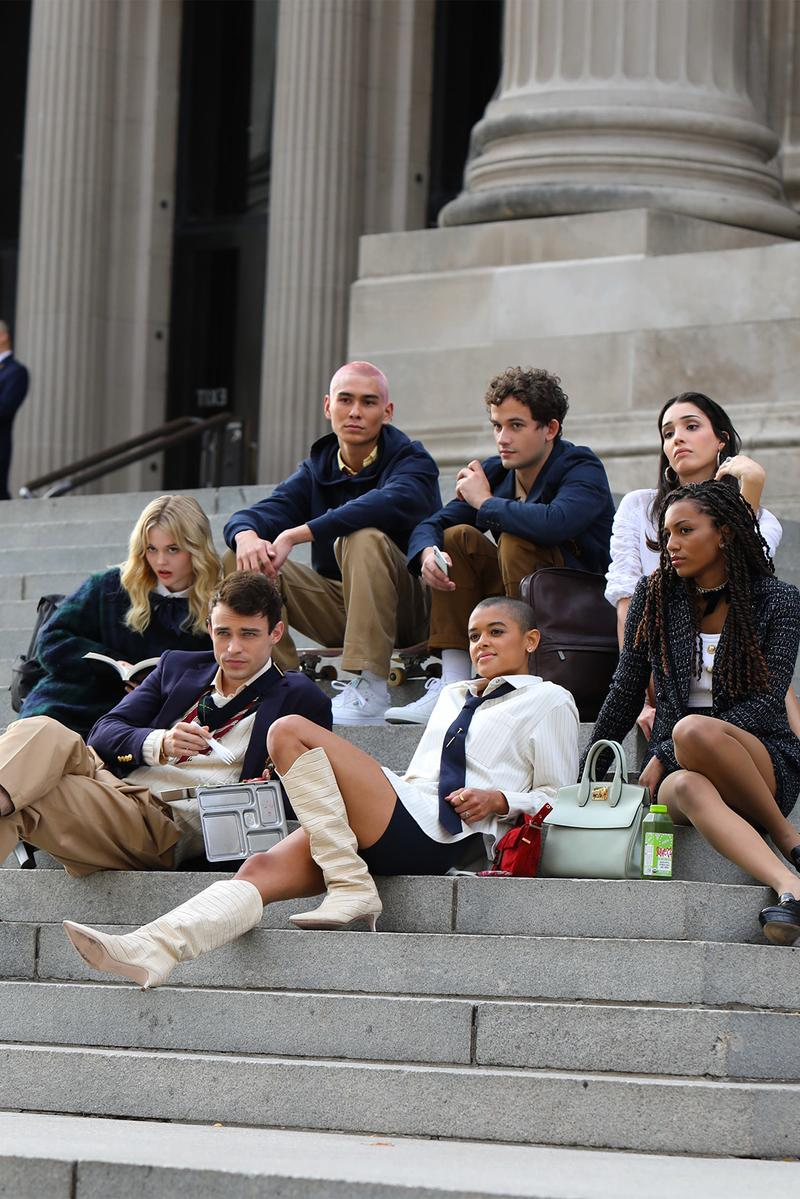 gossip girl reboot hbo max first look whitney peak eli brown on set production tv shows television new york city