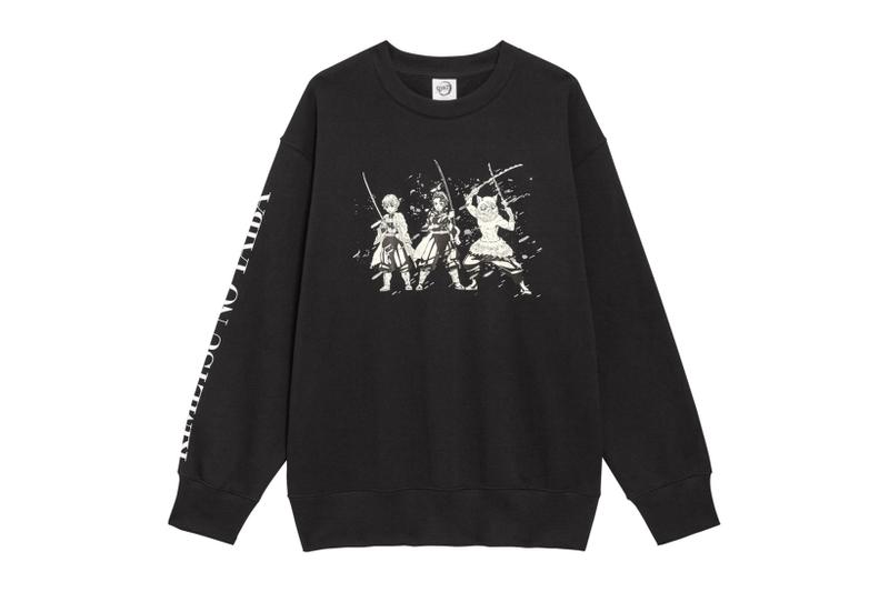 demon slayer kimetsu no yaiba GU uniqlo collaboration sweatshirts hoodies tshirts socks release date