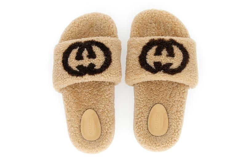 Gucci Eileen slides Shearling GG Logo Teddy Slippers Holiday 2020 Fall Winter Beige Brown