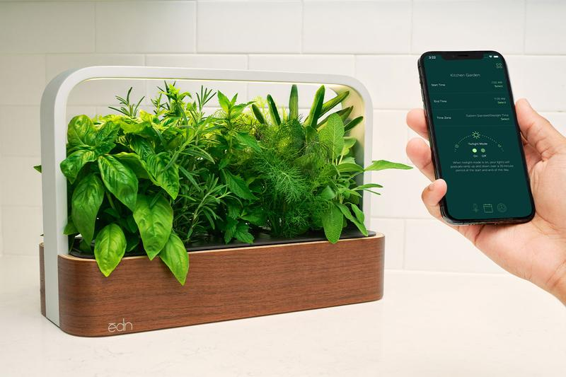 ēdn SmallGarden Indoor Garden Plants Herbs Vegetables Home Smart App Phone