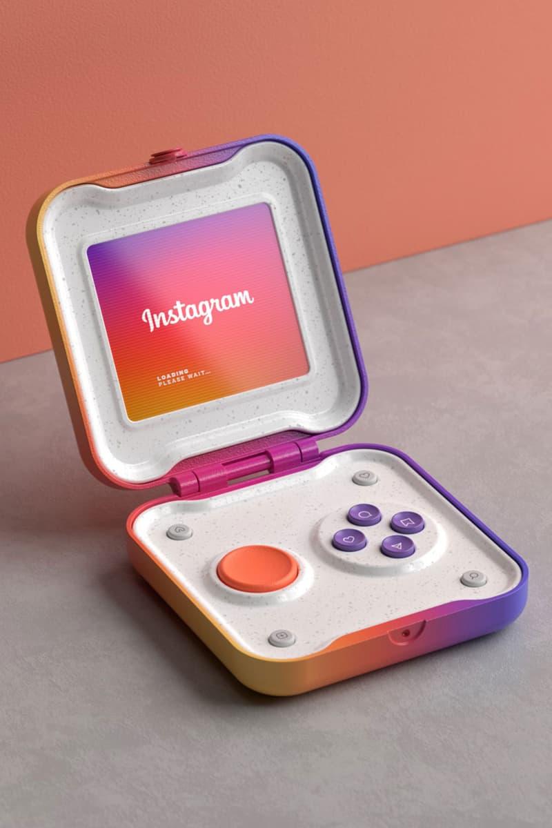 instagram handheld device design digital rendering like comments technology