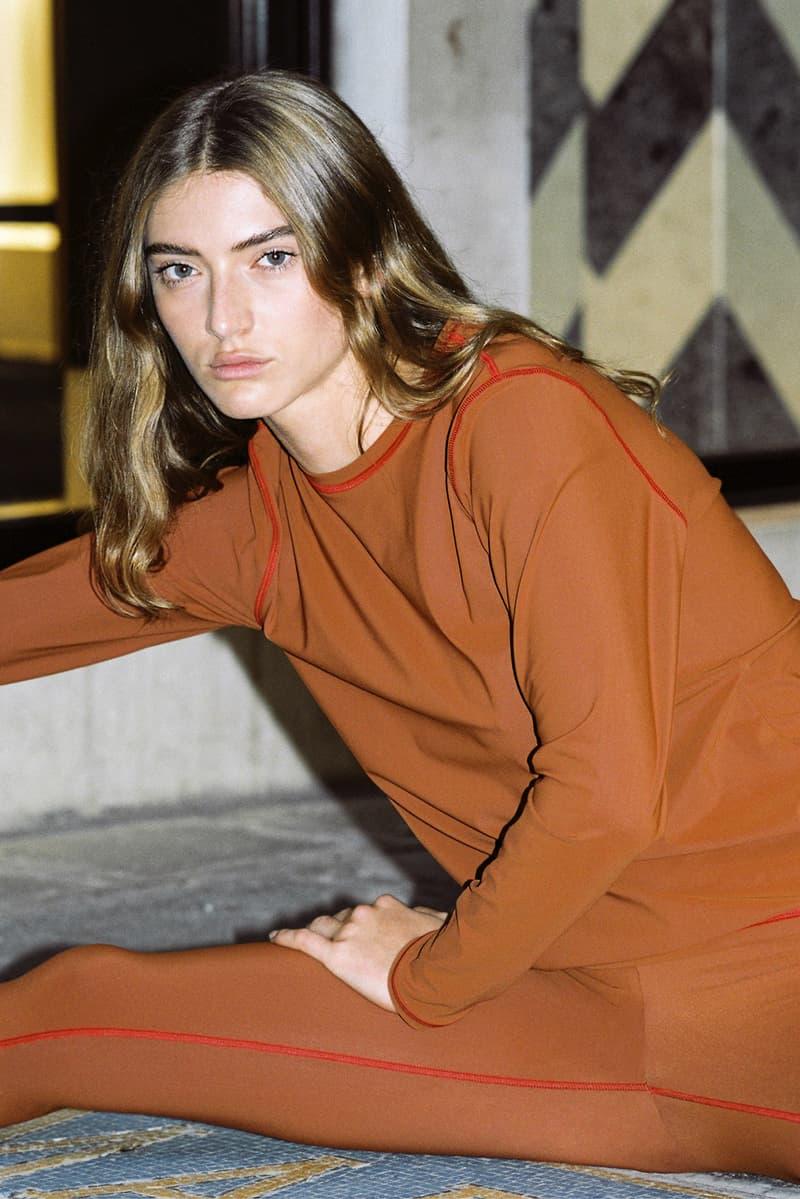 lido sport activewear athleisure collection sustainable eco friendly green orange sports bra leggings