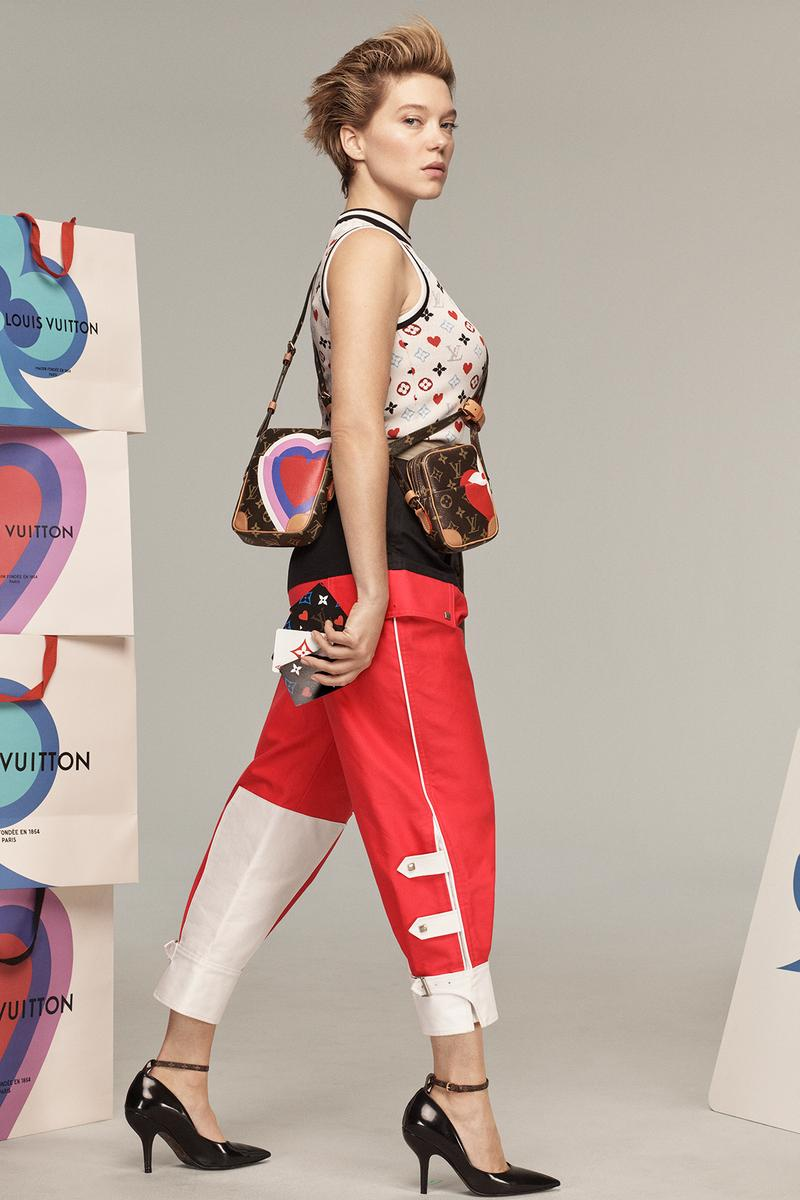 Louis Vuitton Cruise 2021 Card Game Suit Collection Campaign Bag Heart Monogram