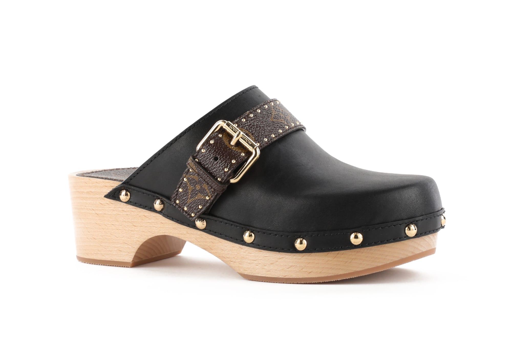 Louis Vuitton Luxury Leather Clogs