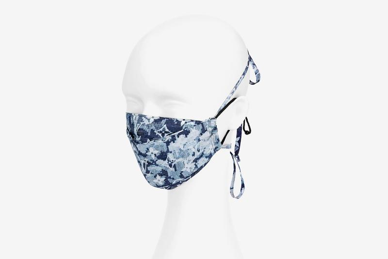 Louis Vuitton Face Mask Bandana COVID-19 Set Monogram Tapestry Print Blue White Logo Monogram