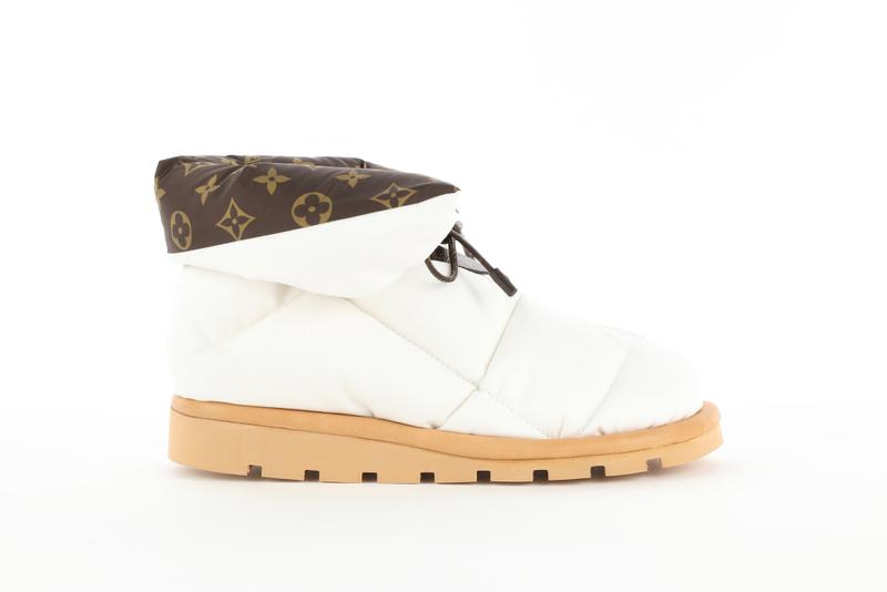 Louis Vuitton Pillow Boot Monogram Cozy Shoe Nylon Fluffy Winter Footwear