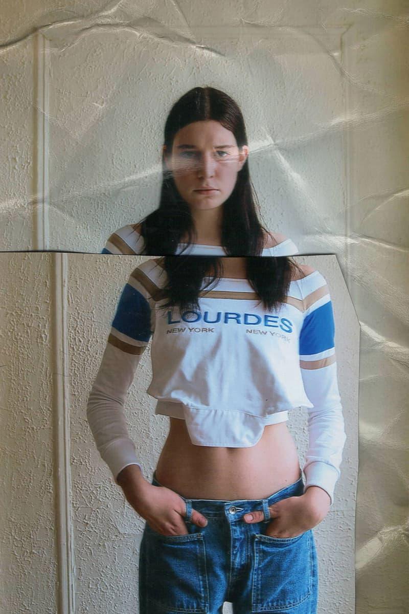 lourdes new york spring summer 2021 divine intervention collection lookbook andreas aresti jerseys dresses jeans denim