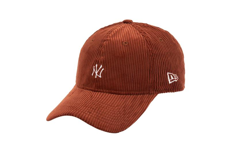 new era hats caps headwear corduroy collection fall new york yankees ny logo