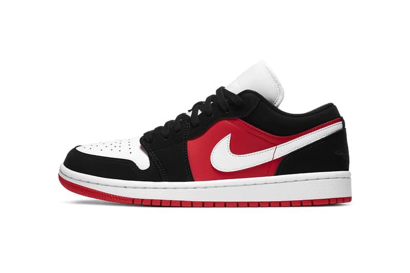 comunidad no usado Polinizar  Nike Air Jordan 1 Low Black/Red/White Release | HYPEBAE