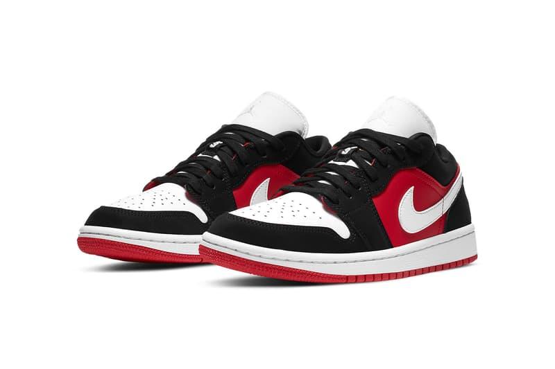 nike air jordan 1 low womens sneakers red black white colorway shoes footwear sneakerhead