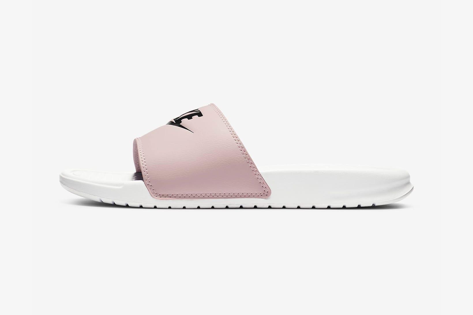 nike benassi slides womens pink