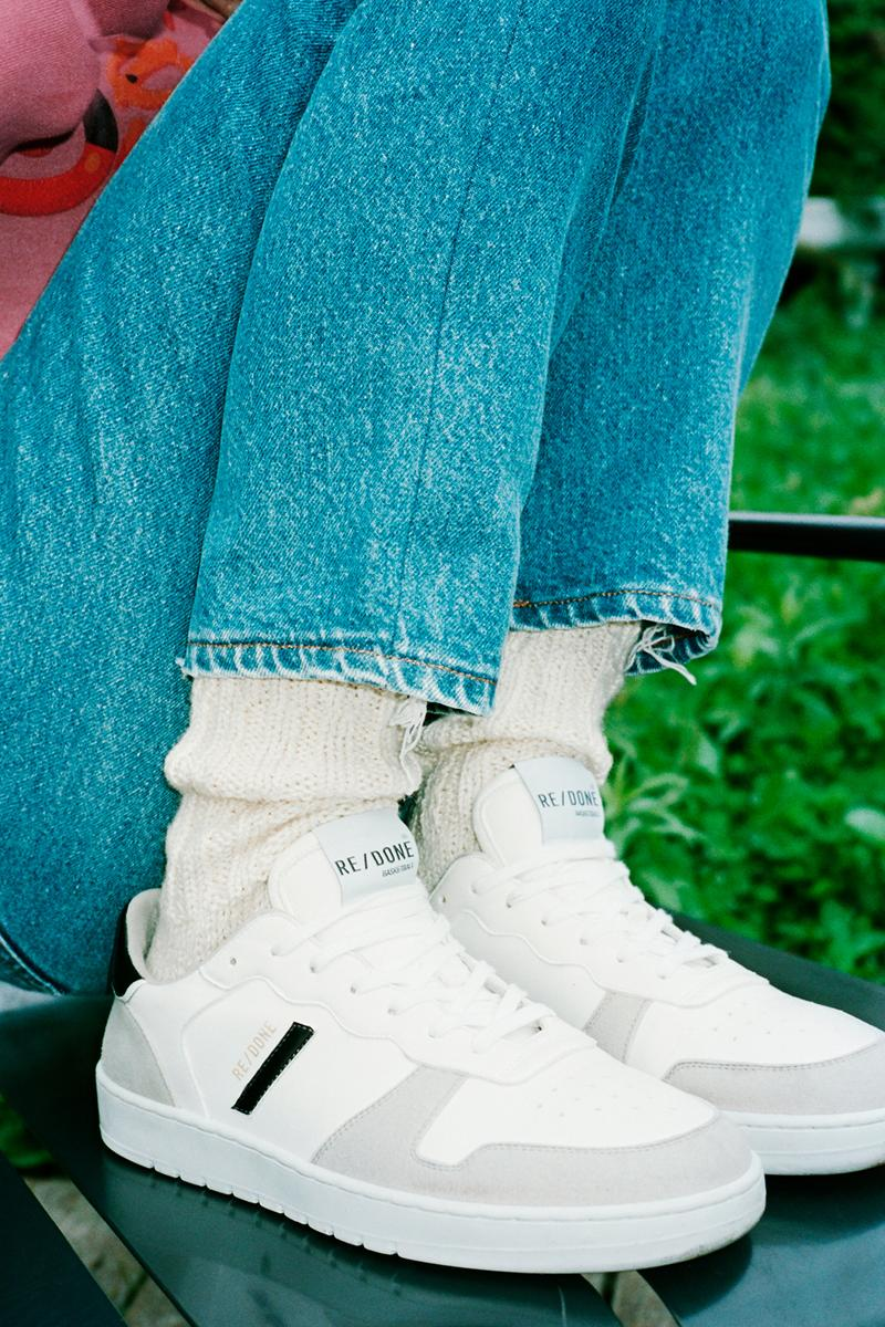 re done eco sneakers white gray colorway sustainable recycled shoes footwear sneakerhead
